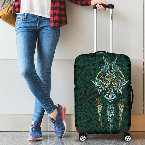 Image of 1stIceland Viking Luggage Covers, Fenrir The Vikings Wolves Th00 - 1st Iceland