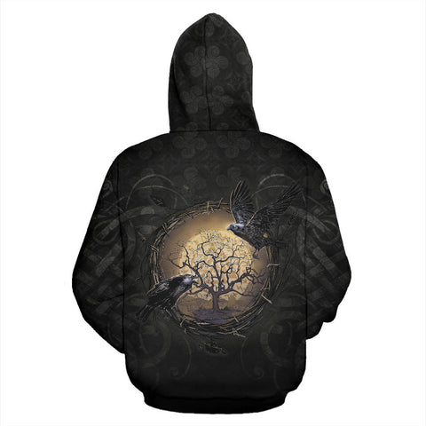 1stIceland Viking Zip Up Hoodie, Raven Of Odin Tree Of Life K6 - 1st Iceland