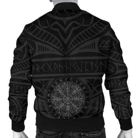 1stIceland Viking Bomber Jacket, Helm Of Awe Iceland Coat Of Arms K4 - 1st Iceland