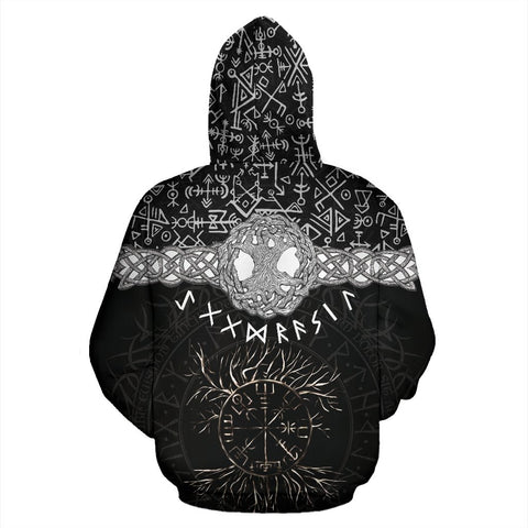 1stIceland Viking Zip Up Hoodie, Tree Of Life Vegvisir K7 - 1st Iceland
