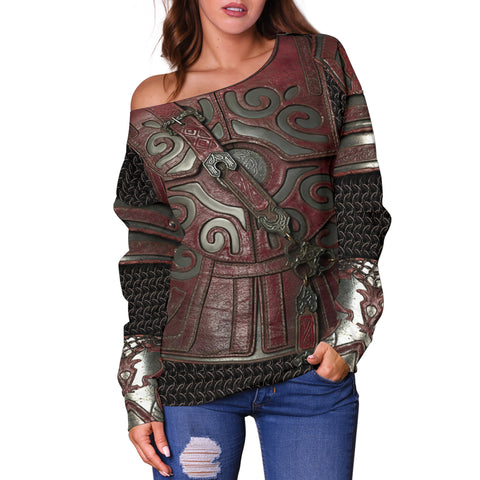 1stIceland Off Shoulder Sweater, 3D Lord of the Rings Armor Th00 - 1st Iceland