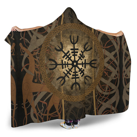 1stIceland Viking Hooded Blanket, Helm Of Awe K5 - 1st Iceland