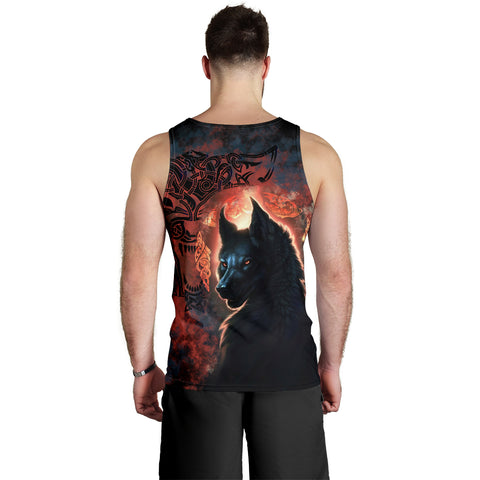 Image of 1stIceland Viking Men's Tank Top Fenrir Grunge Style TH12 - 1st Iceland