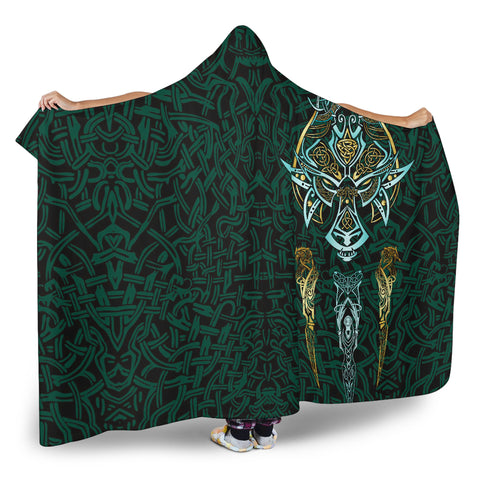Image of 1stIceland Viking Hooded Blanket, Fenrir The Vikings Wolves Th00 - 1st Iceland