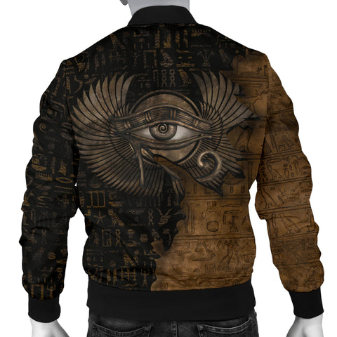 1stIceland Eyes Of Egypt 3D Printed Unisex Men's Bomber Jacket TH12 - 1st Iceland