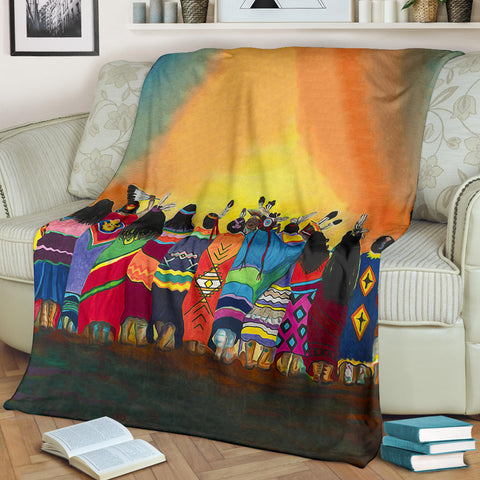 Image of Native American Premium Blanket - 1st Iceland