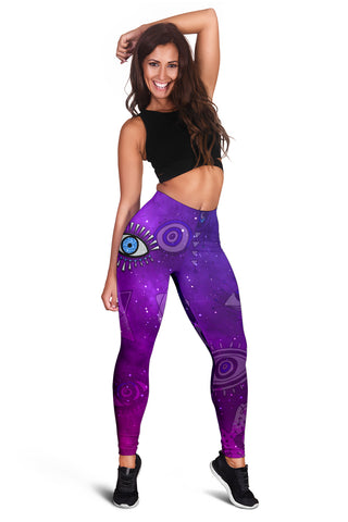 Image of 1stIceland Evil Eye Women Leggings Universe Style K8 - 1st Iceland