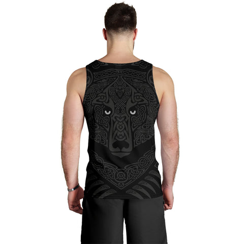 1stIceland Viking Angry Moon Wolf Men's Tank Top TH12 - 1st Iceland