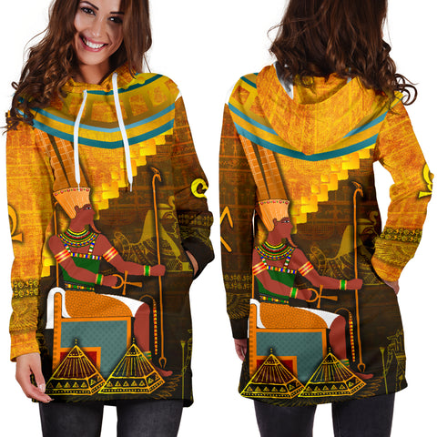 Image of 1stIceland Amun Women Hoodie Dress Egyptian God K8 - 1st Iceland