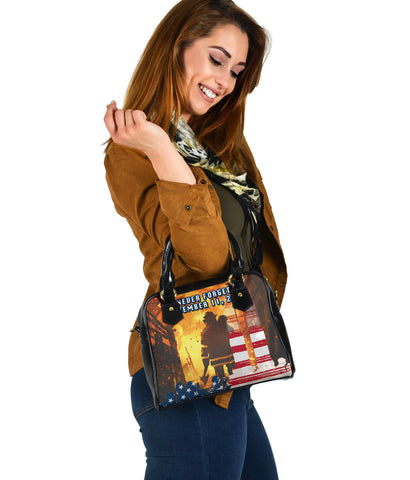 1stIceland American Firefighters Shoulder Handbag 9.11.01 Never Forget K8 - 1st Iceland
