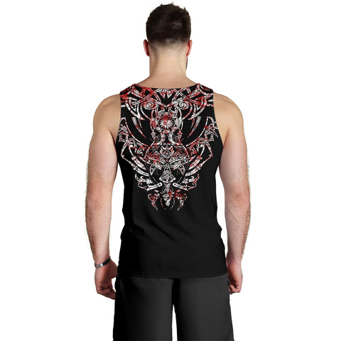 1stIceland Geki & Freki Viking Wolf Blood Men's Tank Top TH12 - 1st Iceland