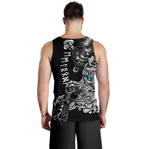 1stIceland Odin Viking Tattoo Men's Tank Top TH12 - 1st Iceland