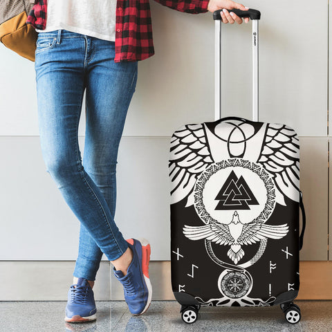 1stIceland Viking Luggage Covers, Flying Raven Tattoo And Valknut - 1st Iceland