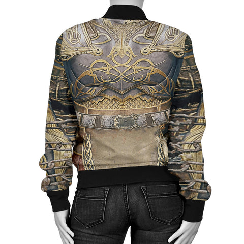 1sticeland Bomber Jacket for Women, Kratos Armor All Over Print TH00 - 1st Iceland