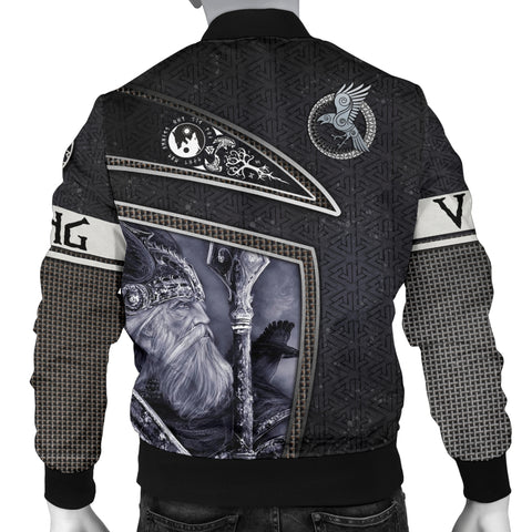 1stIceland Viking God Metal Men's Bomber Jacket TH12 - 1st Iceland