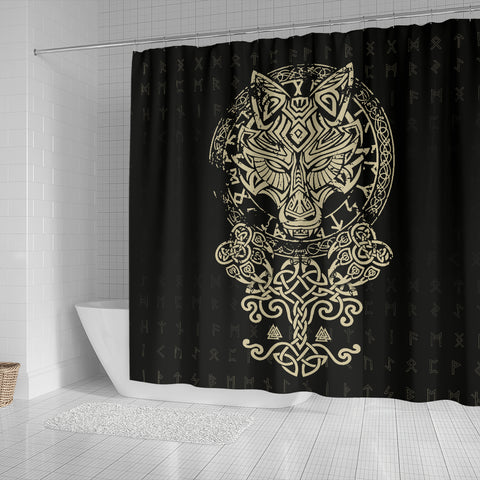 Image of 1stIceland Viking Wolf Fenrir Shower Curtain TH12 - 1st Iceland