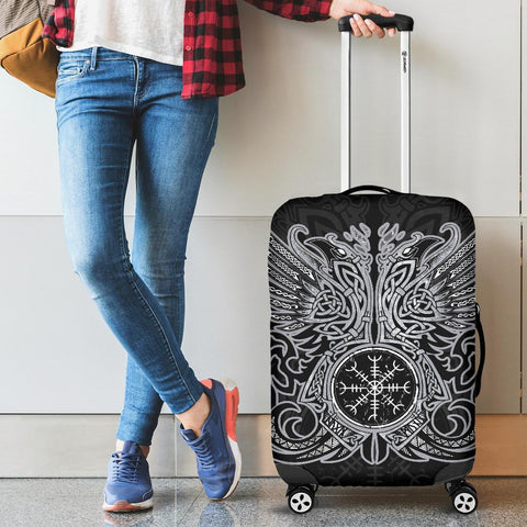 1stIceland Viking Luggage Cover, Odin's Ravens Helm Of Awe Th5 - 1st Iceland