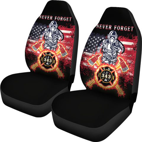 1stIceland American Firefighters Car Seat Covers 9.11.01 Memorial K8 - 1st Iceland