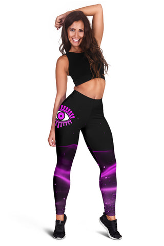 1stIceland Evil Eye Women Leggings Original Style - Pink K8 - 1st Iceland