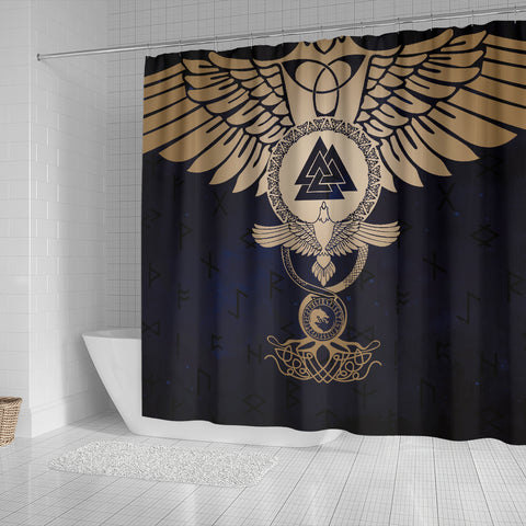 Image of 1stIceland Viking Shower Curtain, Wolf Celtic Galaxy J1 - 1st Iceland