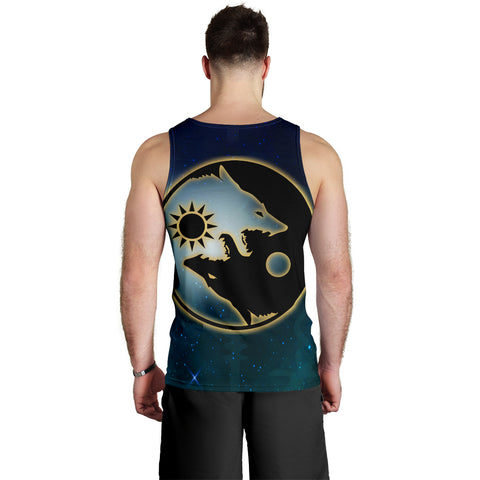 1stIceland Viking Tank Top, Tree Of Life Fenrir Skoll And Hati Raven Rune TH00 - 1st Iceland