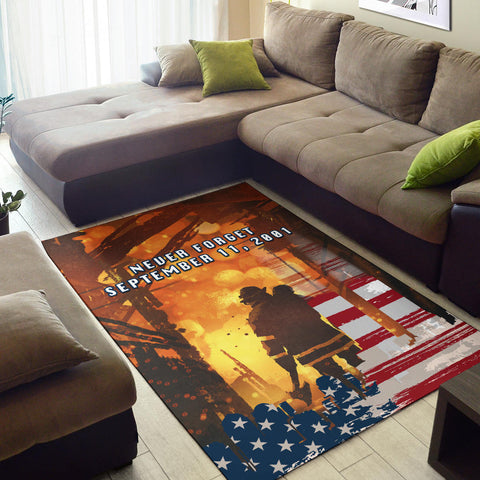 1stIceland American Firefighters Area Rug 9.11.01 Never Forget K8 - 1st Iceland