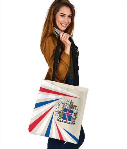 1stIceland Iceland Tote Bag Coat Of Arms Creative Vibes - Beige K8 - 1st Iceland