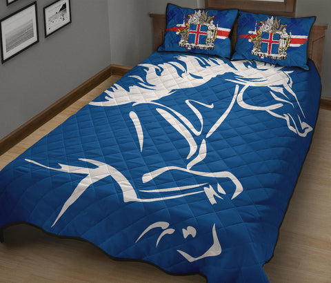 1stIceland Quilt Bed Set, Icelandic Horse Coat Of Arms K4 - 1st Iceland