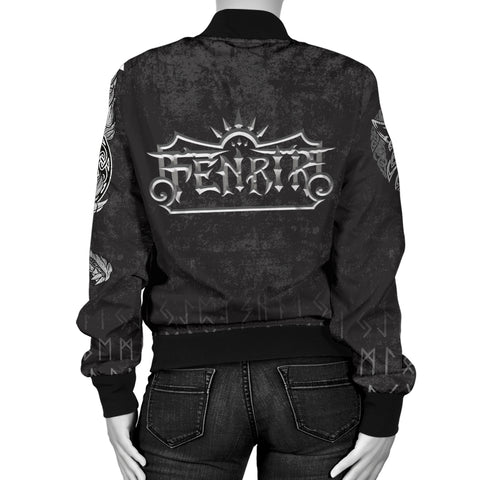 1stIceland American Viking Fenrir Women Bomber Jacket TH12 - 1st Iceland