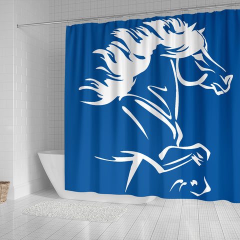 Image of 1stIceland Shower Curtain, Icelandic Horse Coat Of Arms K4 - 1st Iceland