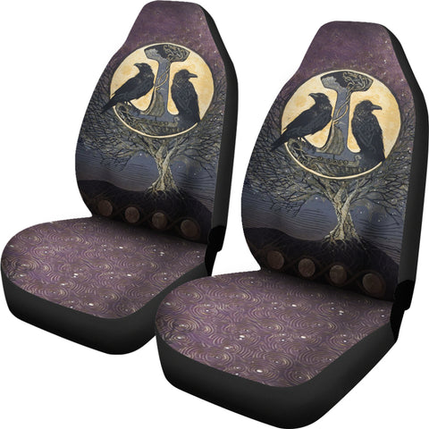 1stIceland Viking Car Seat Covers, Raven And Tree Of Life K5 - 1st Iceland