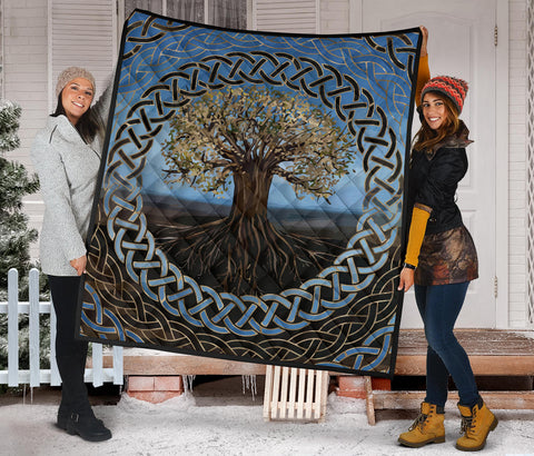Image of 1ST Iceland Vikings Yggdrasil, Celtic Tree of Life Quilt K5 - 1st Iceland