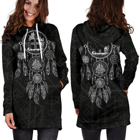 Image of 1stIceland Viking Hoodie Dress, Dreamcatcher Iceland Coat Of Arms K4 - 1st Iceland
