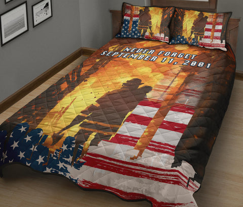 1stIceland American Firefighters Quilt Bed Set 9.11.01 Never Forget K8 - 1st Iceland