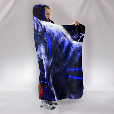 1stIceland Viking Hooded Blanket Ragnar and Wolf TH12 - 1st Iceland