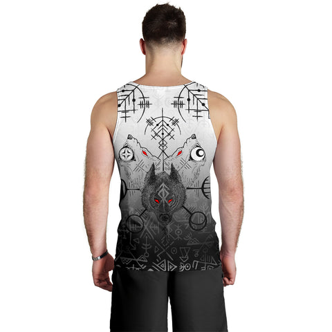 1stIceland Viking Wolf Men Tank Top Runes Special Back | 1stIceland
