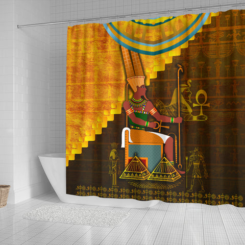 Image of 1stIceland Amun Shower Curtain Egyptian God K8 - 1st Iceland
