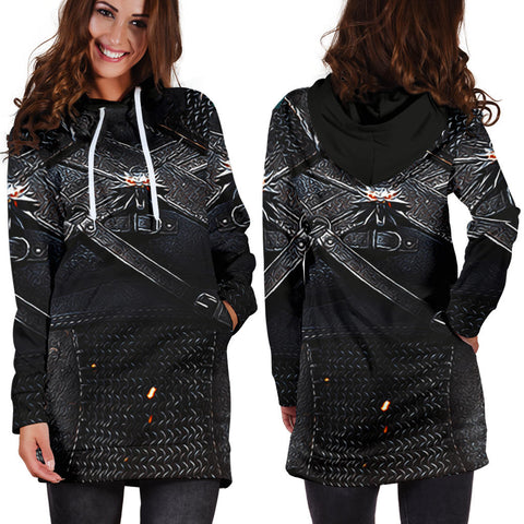 1stIceland Hoodie Dress, 3D Witcher Armor All Over Print - TH00 - 1st Iceland