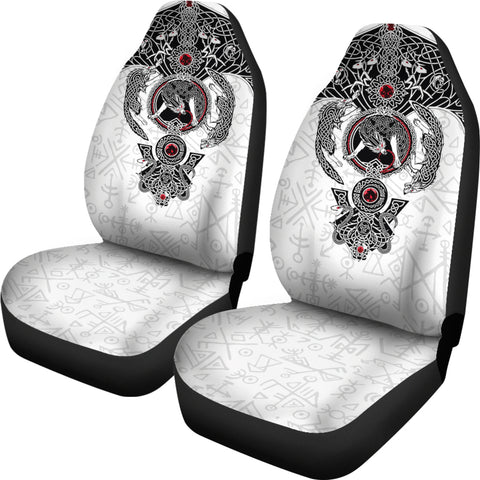 1stIceland Viking Car Seat Covers, Fenrir Skoll And Hati Futhark Norse K5 - 1st Iceland