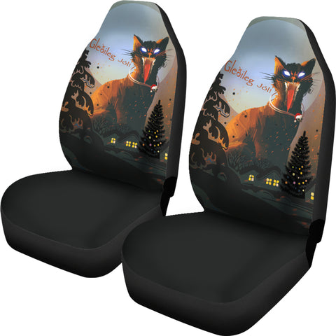 1stIceland Gleðileg Jól Car Seat Covers, Yule Cat 01 - 1st Iceland