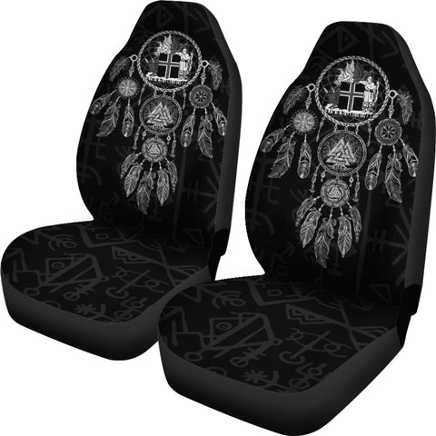 1stIceland Viking Car Seat Covers, Dreamcatcher Iceland Coat Of Arms K4 - 1st Iceland