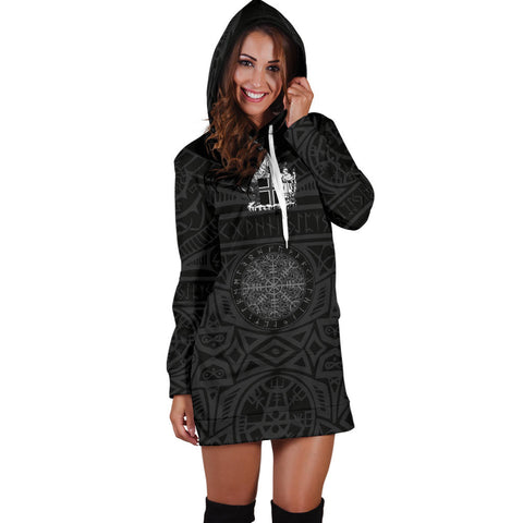Image of 1stIceland Viking Hoodie Dress, Helm Of Awe Iceland Coat Of Arms K4 - 1st Iceland