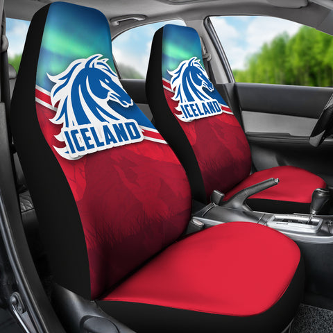 1stIceland Icelandic Horse Car Seat Covers Aurora Mountain K4 - 1st Iceland
