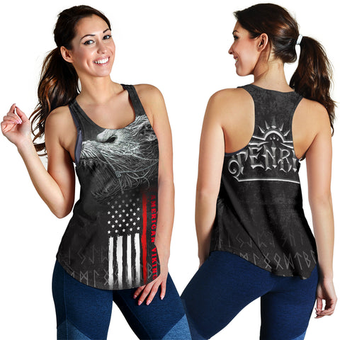 Image of 1stIceland American Viking Fenrir Women Racerback Tank TH12 - 1st Iceland