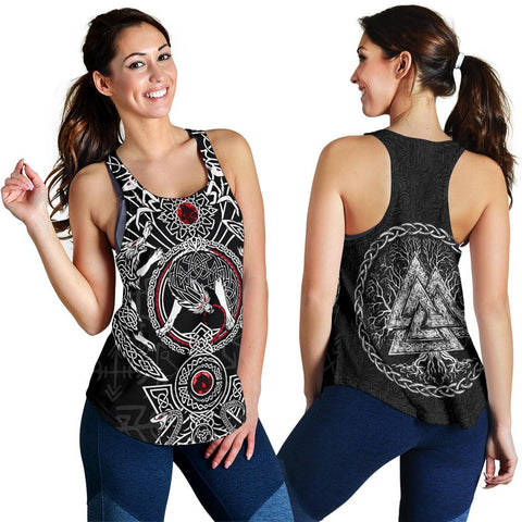Image of 1stIceland Men's Tank Top, Fenrir Skoll And Hati Valknut TH00 - 1st Iceland
