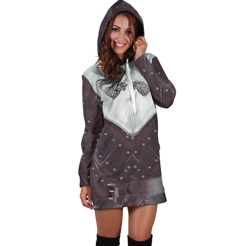 Image of 1sticeland Hoodie Dress, 3D Arya Stark Armor All Over Print - 1st Iceland
