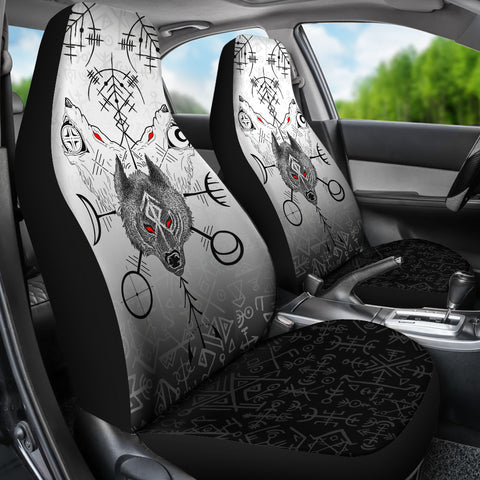 Image of 1stIceland Viking Wolf Car Seat Covers Runes Special K13 - 1st Iceland