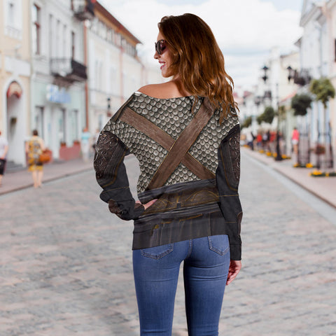 1stIceland Off Shoulder Sweater, 3D Assassin Creed Odyssey Armour - 1st Iceland