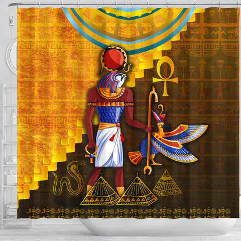 1stIceland Ra Shower Curtain Egyptian God K8 - 1st Iceland