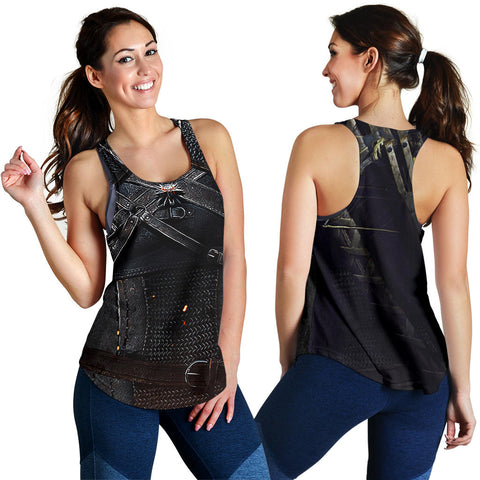 1stIceland Women's Racerback Tanks, 3D Witcher Armor TH00 - 1st Iceland